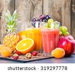 fresh juice  orange and... | Shutterstock . vector #319297778