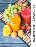 fresh juice  orange and... | Shutterstock . vector #319297793