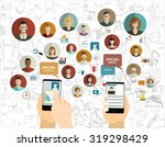 global social network abstract... | Shutterstock .eps vector #319298429