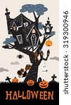 halloween background with the... | Shutterstock .eps vector #319300946