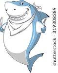 white shark | Shutterstock .eps vector #319308389
