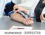 female medicine doctor... | Shutterstock . vector #319311710