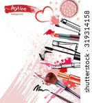 cosmetics and fashion... | Shutterstock .eps vector #319314158