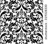 damask seamless floral pattern. ... | Shutterstock .eps vector #319328330