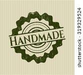 handmade rubber seal | Shutterstock .eps vector #319329524