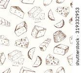 cheese set seamless pattern....