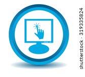 touchscreen monitor icon  blue  ...