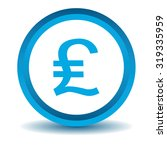 pound sterling icon  blue  3d ...