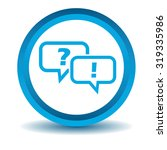 question answer icon  blue  3d  ...