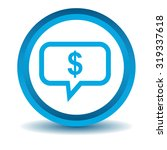 dollar message icon  blue  3d ...