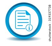information document icon  blue ...