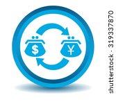 dollar yen trade icon  blue  3d ...