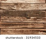 Railroad Ties Wall