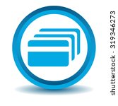 credit card icon  blue  3d ...