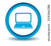 laptop icon  blue  3d  isolated ...