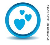 love icon  blue  3d  isolated...