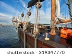 Old Wooden Sailing Ship In...