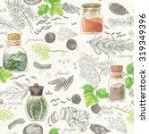 seamless kitchen background of... | Shutterstock .eps vector #319349396