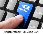 paying bills. gesture of finger ... | Shutterstock . vector #319355264