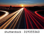 speed traffic light trails on... | Shutterstock . vector #319355363