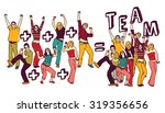 team group happy young people... | Shutterstock .eps vector #319356656