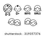 children icon set  age warning... | Shutterstock .eps vector #319357376