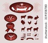 set of the butchery logo ... | Shutterstock .eps vector #319358780
