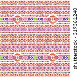 seamless colorful aztec pattern. | Shutterstock . vector #319361240