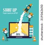 business people control rocket... | Shutterstock .eps vector #319362650