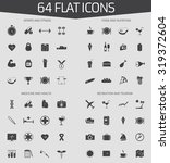 web icons set of 64 flat icons  ... | Shutterstock .eps vector #319372604