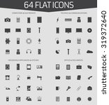 web icons set of 64 flat icons  ... | Shutterstock .eps vector #319372640