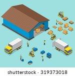 warehouse isometric flat vector ... | Shutterstock .eps vector #319373018