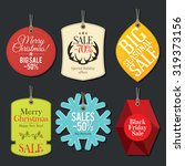 retail sale tags and clearance... | Shutterstock .eps vector #319373156