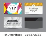 business vip member cards... | Shutterstock .eps vector #319373183