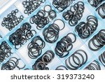 rubber o rings in the box. | Shutterstock . vector #319373240