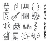 music icons in trendy linear...   Shutterstock .eps vector #319380176