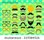 photo booth props template.... | Shutterstock .eps vector #319384526
