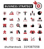business strategy icons | Shutterstock .eps vector #319387058