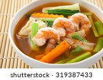 Hot And Sour Soup With Shrimp...