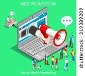 social media marketing concept. ... | Shutterstock . vector #319389209