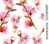 delicate japanese cherry... | Shutterstock . vector #319389689