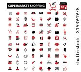 supermarket shopping icons | Shutterstock .eps vector #319394978