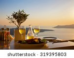 romantic table for two on the... | Shutterstock . vector #319395803