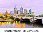 View Of Melbourne Skyline At...