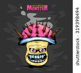 monster pink mushroom | Shutterstock .eps vector #319398494