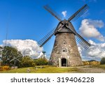 Old Windmill By September Day ...