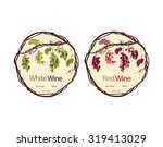 label for red and white wine   Shutterstock .eps vector #319413029