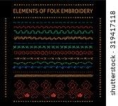 set of vector elements of folk... | Shutterstock .eps vector #319417118