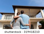 rear view of young couple...   Shutterstock . vector #319418210