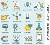 vector set of icons related to... | Shutterstock .eps vector #319423550